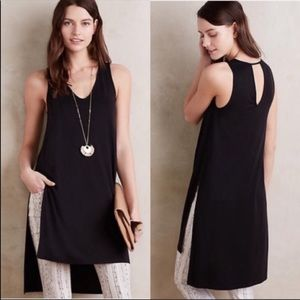 Women's NWT Anthropologie Black Longview Dress